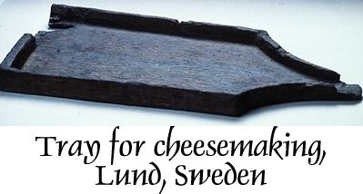 Viking Age tray used in the manufacture of cheese.