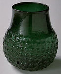 Mold-blown Green Glass Bag Beaker