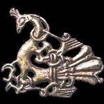 Gilt-silver brooch from an 11th c. Norwegian hoard.