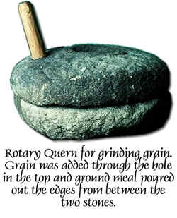 Viking Age quern for grinding grain.